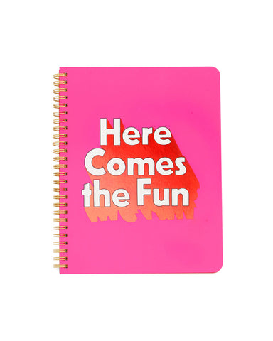 rough draft mini notebook - here comes the fun