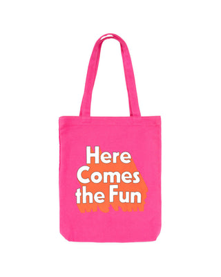 canvas tote - here comes the fun