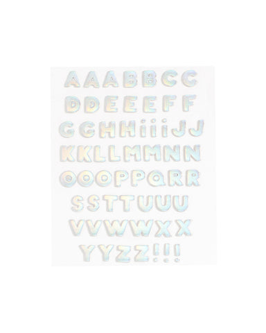 plushie sticker letter set - holographic