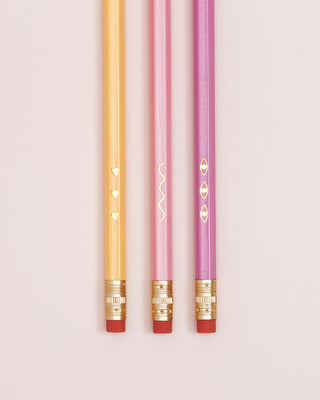 assorted pencil pack of 6