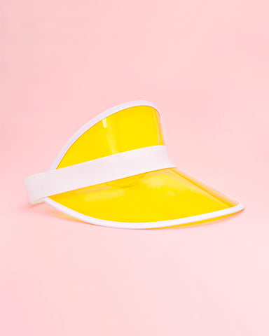 yellow party visor