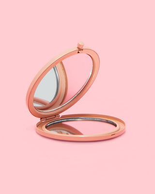 compact mirror - pink