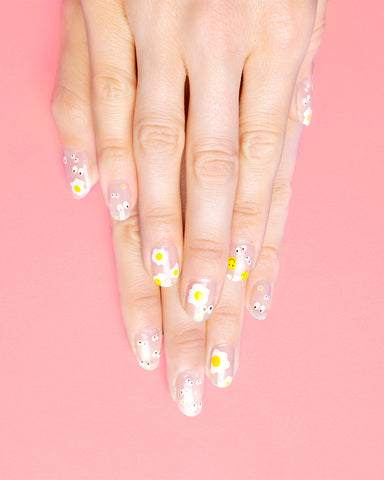 sunny egg nail decals