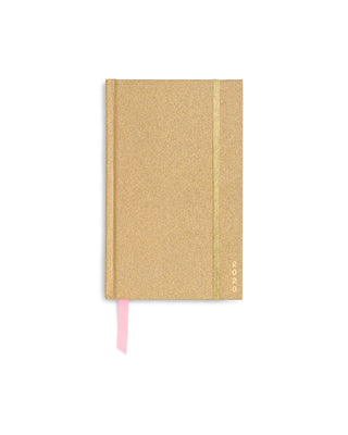 This Classic 12-Month Annual Planner comes with a gold-glittered matte-laminated hard cover.