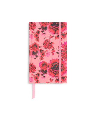 [monogram] This Classic 12-Month Annual Planner comes with a pink floral matte-laminated hard cover designed by Helen Dealtry.