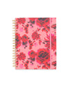 This Large 12-Month Annual Planner comes with a matte-laminated hard cover in a pink floral design.