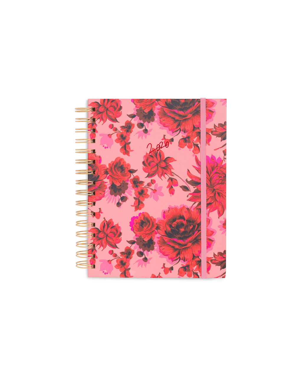 This Medium 12-Month Annual Planner comes in a matte-laminated, pink-floral hard cover.