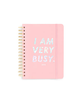 ban.do 17-month medium agenda - I am very busy, ban.do pink/holographic