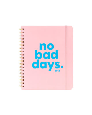 2018 12-month compact view planner - no bad days