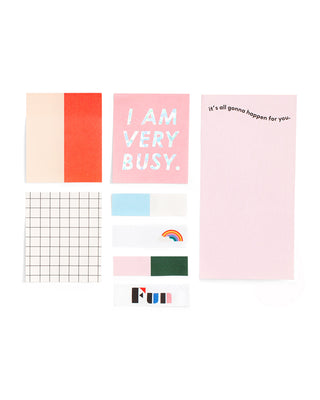 sticky note set - i am very busy