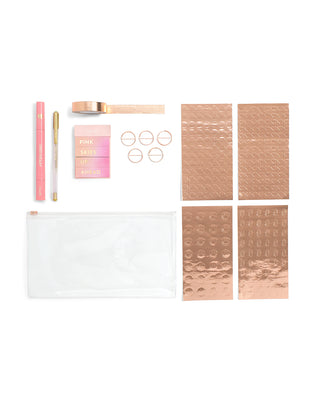 agenda starter pack - rose gold
