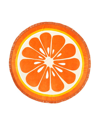 This brightly-colored towel looks just like a sliced orange.