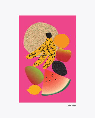 bright fruit art print