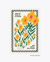 floral art print with the words sow the seeds of optimism