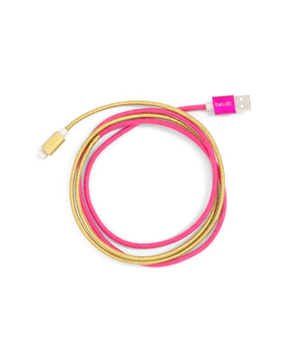 Pink & Gold ombre colored charging cord.