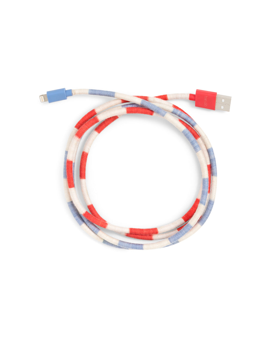 Red, White, & Blue, club stripe colored phone charging cord.