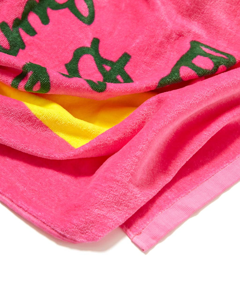 Made of extra-soft terry cloth, this Beach Please! towel is perfect for lounging.