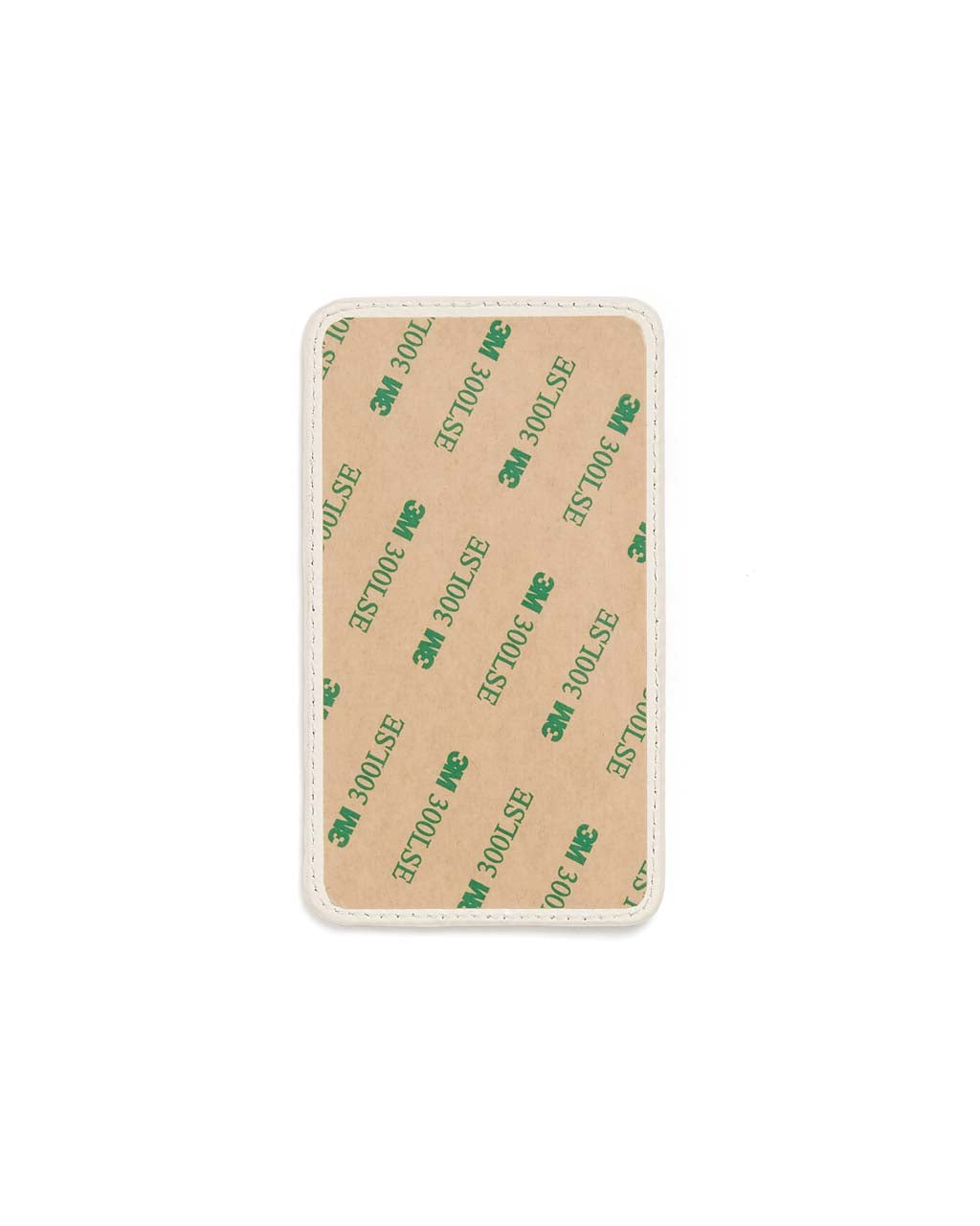 Adhesive back sticks to any phone or phone case.