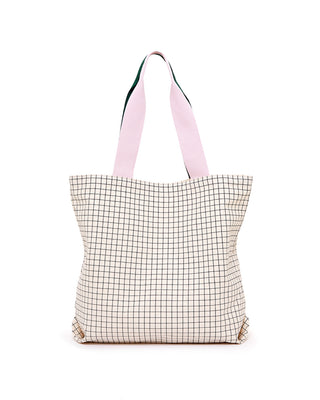 big canvas tote - mini grid