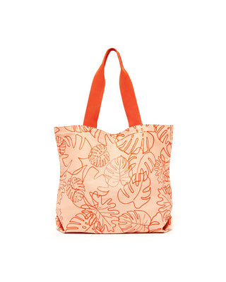 big canvas tote - monstera