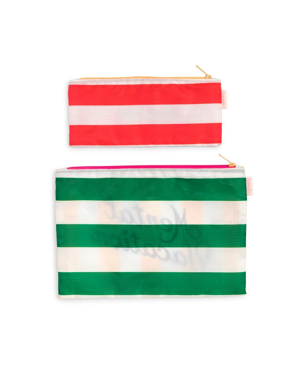 Alternative side with horizontal stripes, large with green club stripe and small with a red club stripe