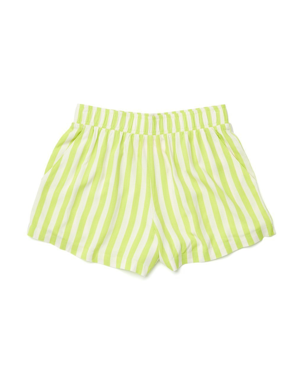 lime green stripe chill shorts