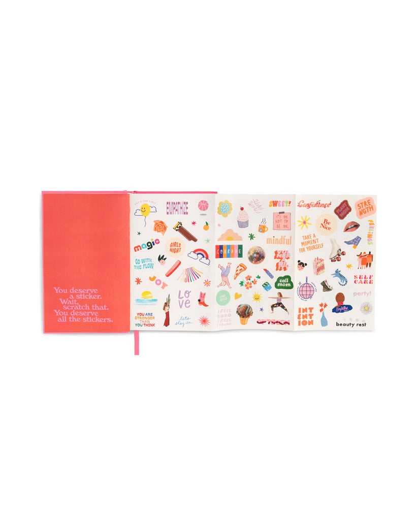 interior image of sticker sheets included within the planner