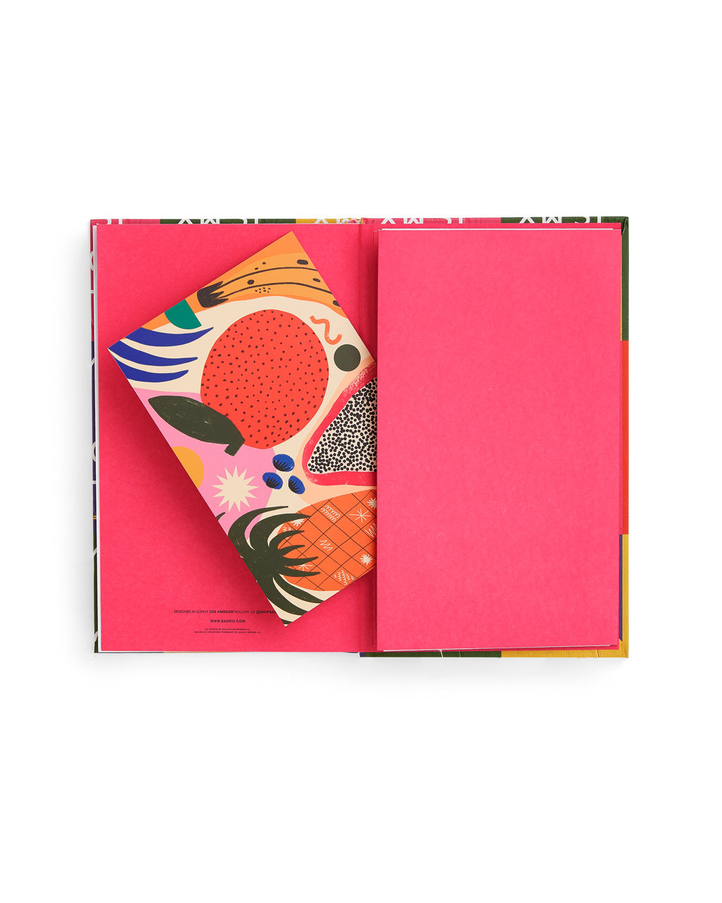 interior image of classic planner featuring a bright pink end sheet and a pocket