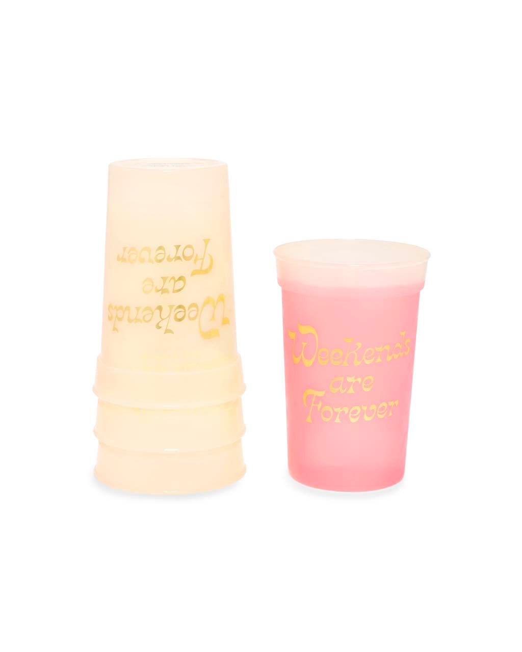 Color Changing Party On Plastic Party Cup Set - Weekends Are Forever
