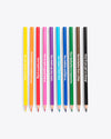 set of 10 coloring pencils pre sharpened