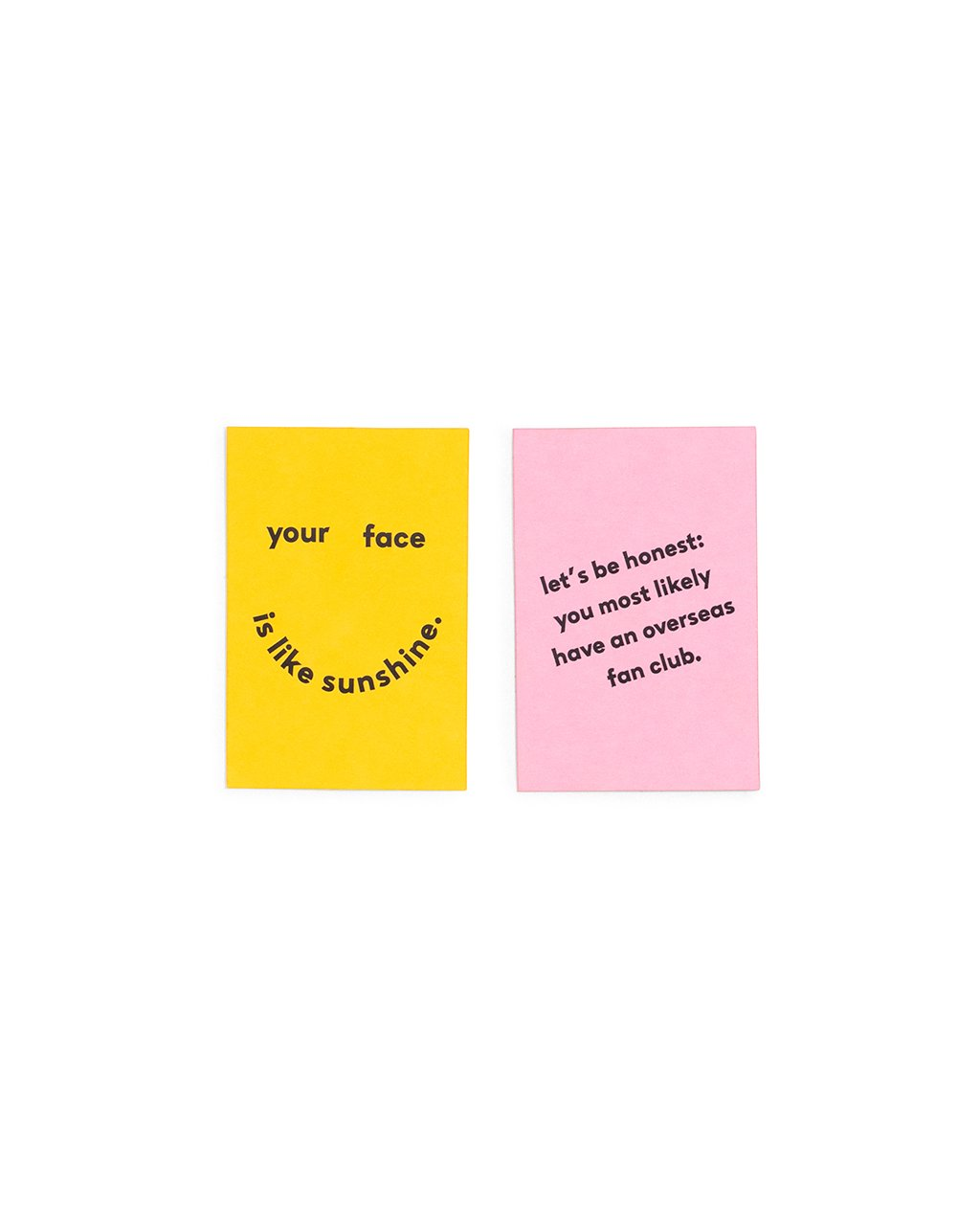 compliment card set - face like sunshine / fan club by ban.do - card ...