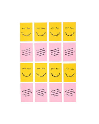 compliment card set - face like sunshine / fan club