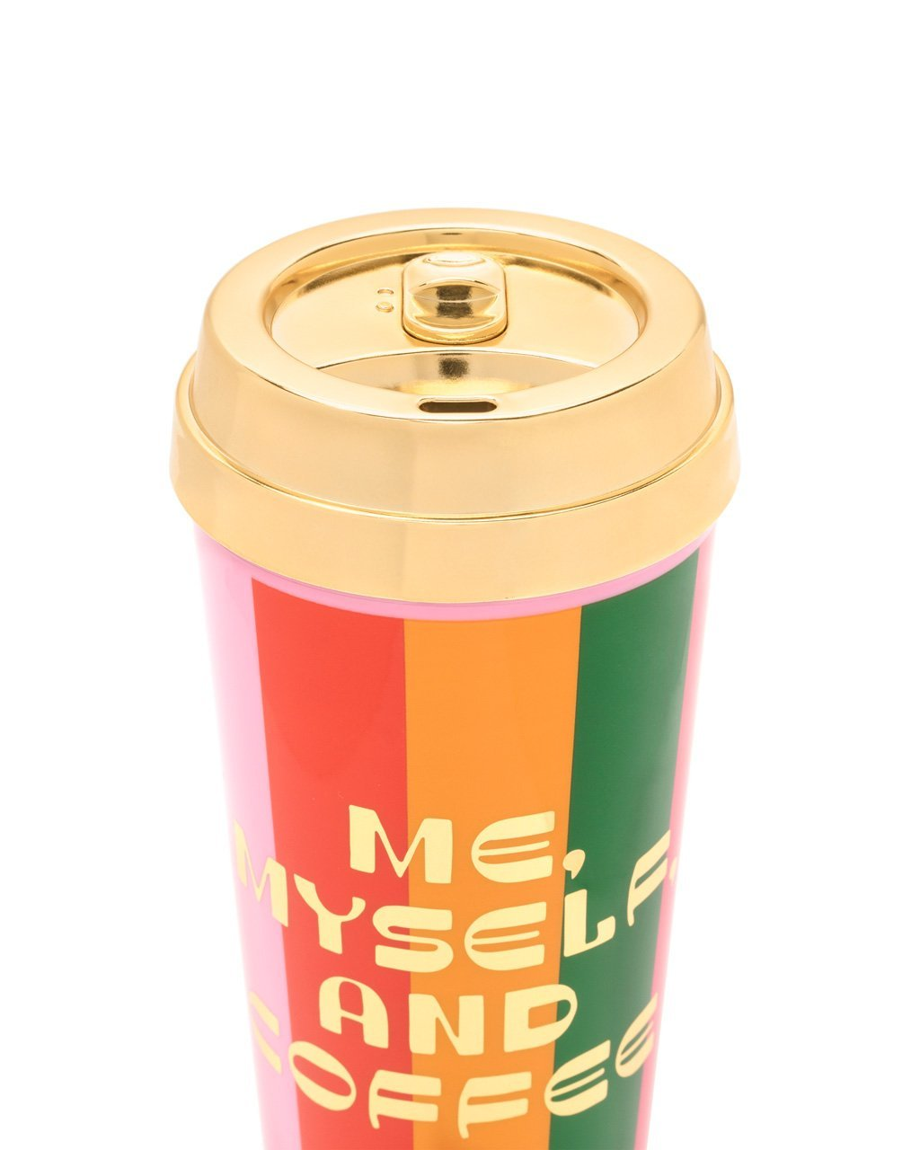 16oz thermal with gold electroplated lid