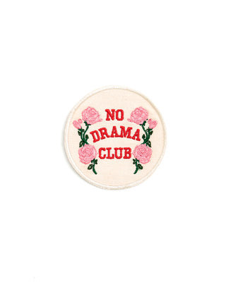 embroidered patch - no drama club