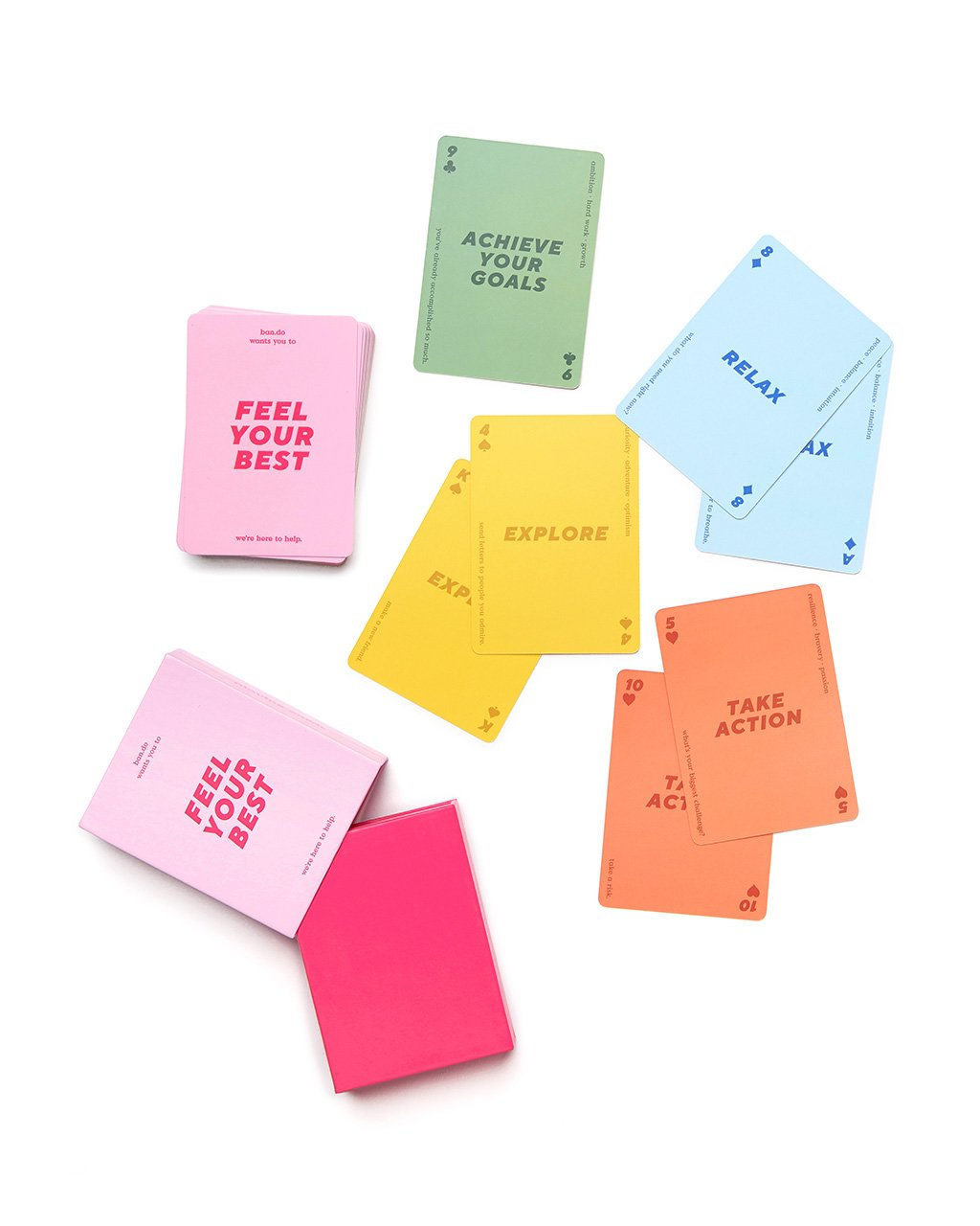 Color themed cards used for reflection, meditation, and more.