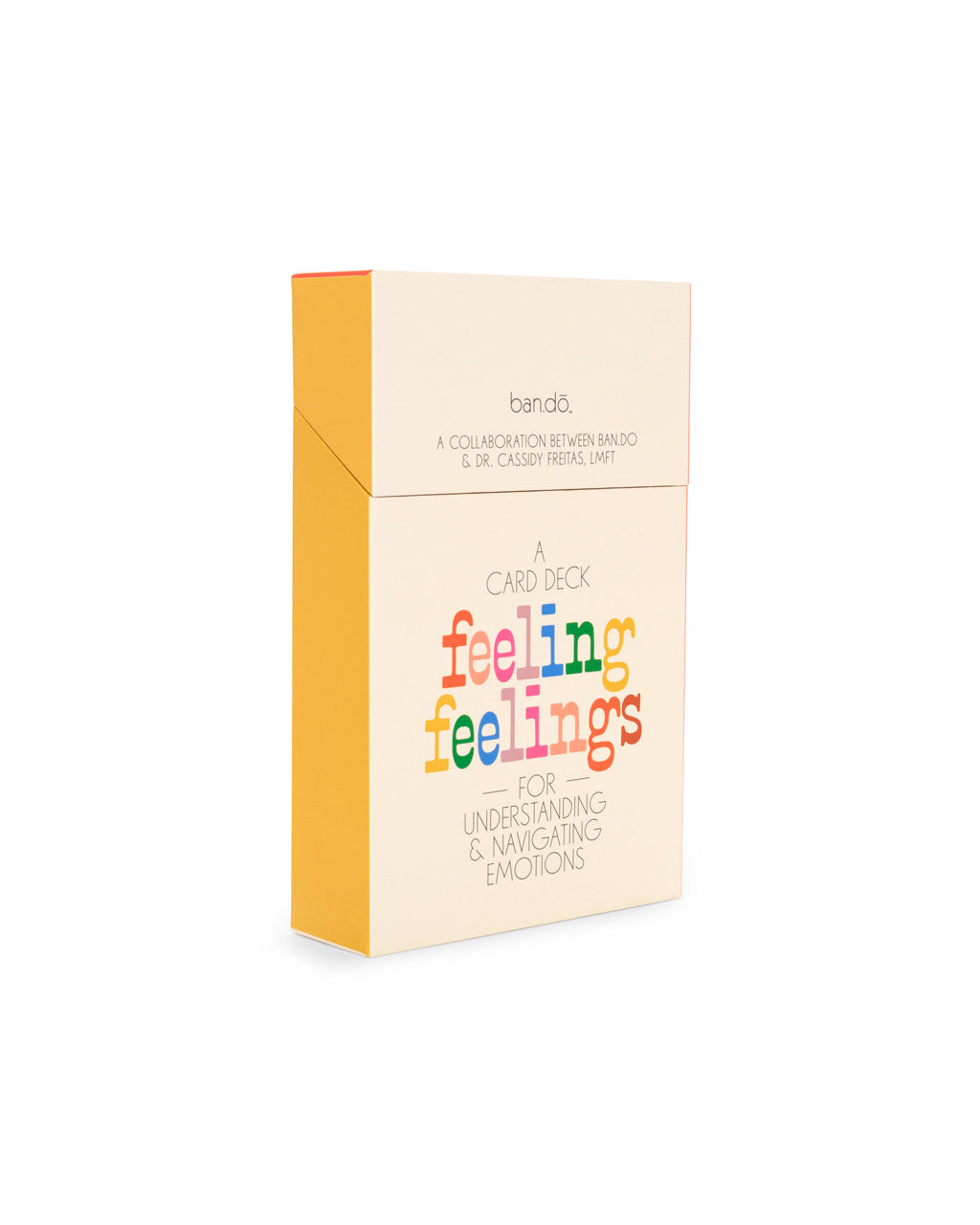 feeling feelings card deck packaging with flip top