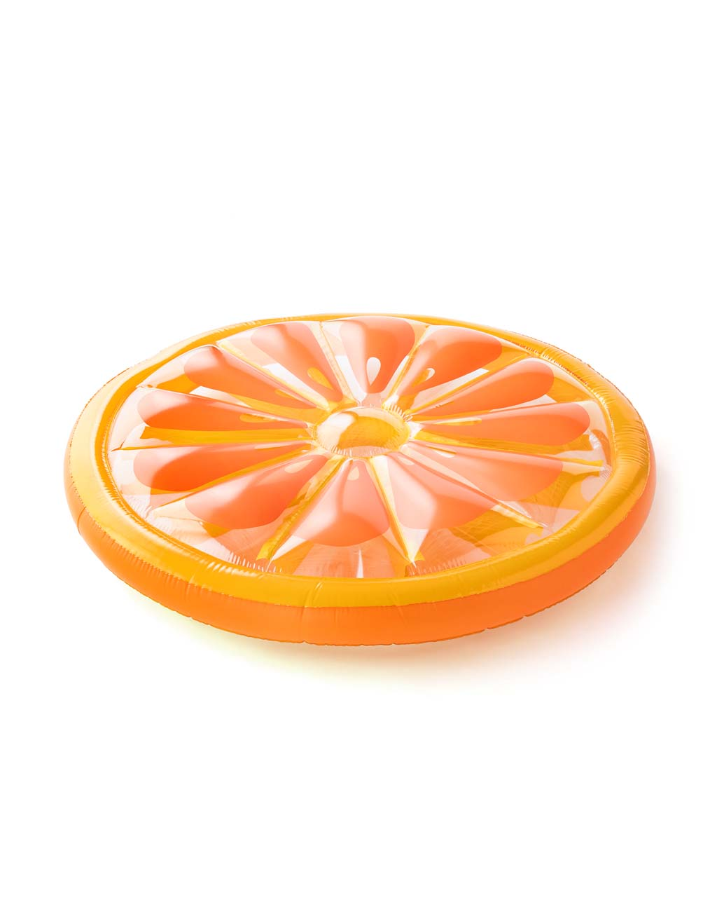 This Float On Giant Inflatable comes in a bright orange slice design.