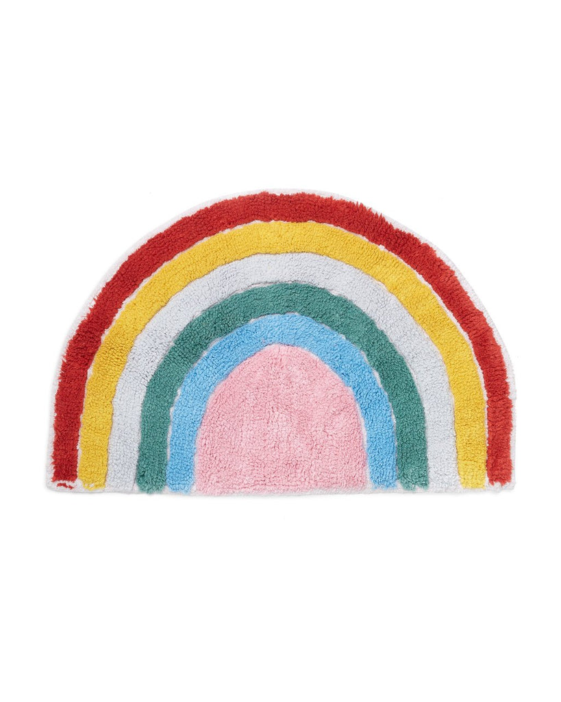 100% cotton rainbow floor mat