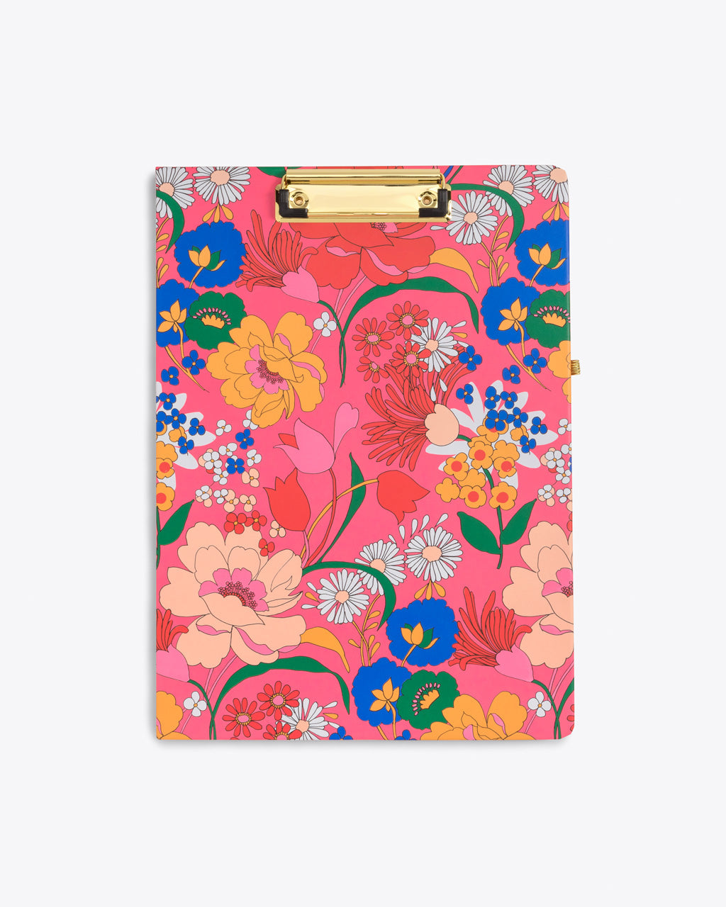 hot pink clipboard folio with a bright floral pattern