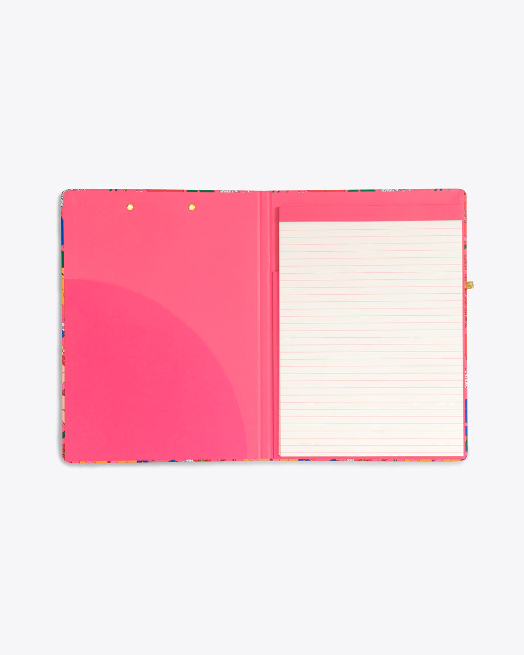 clipboard folio includes notepad and an interior pocket