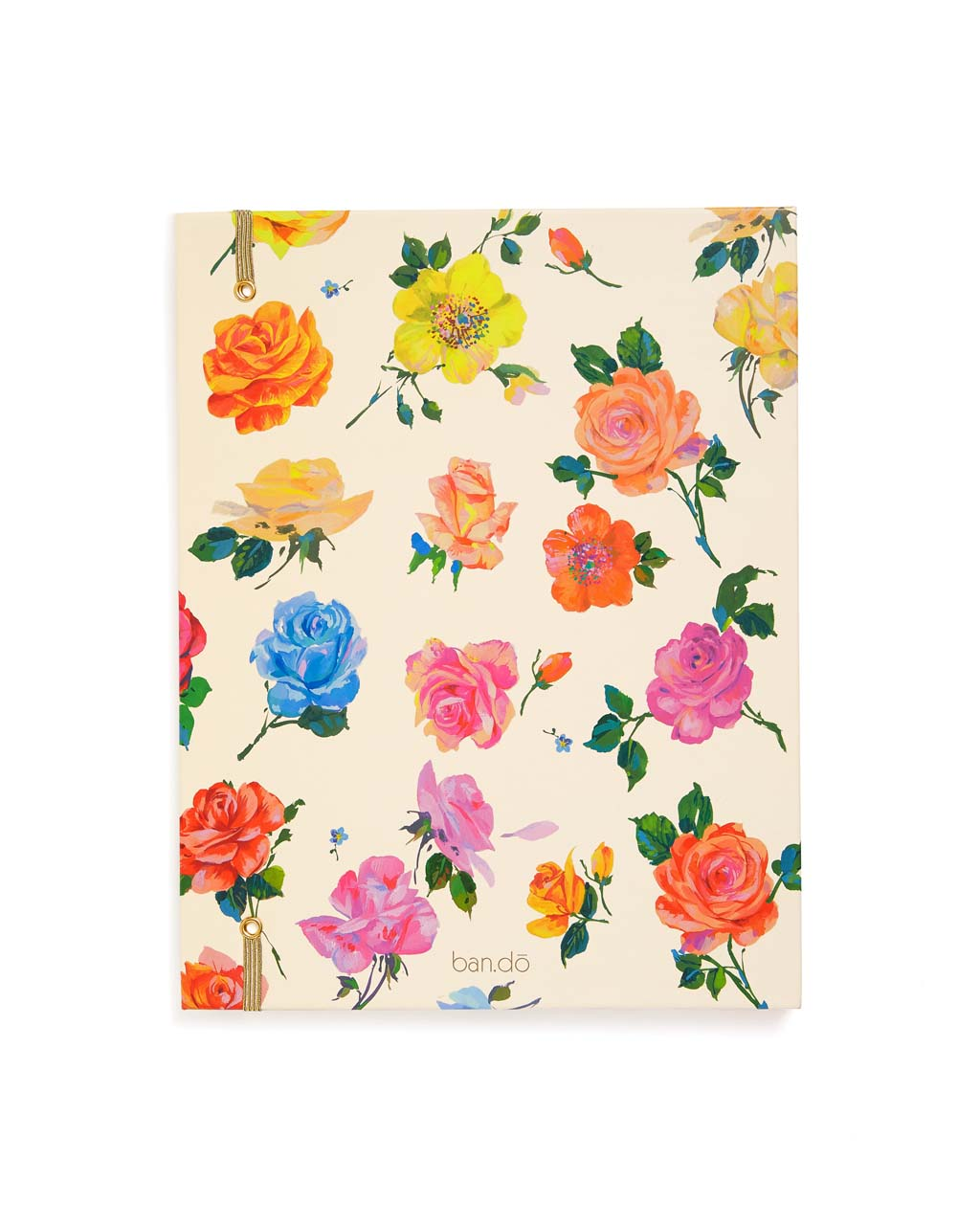 Back view of floral file folder cover