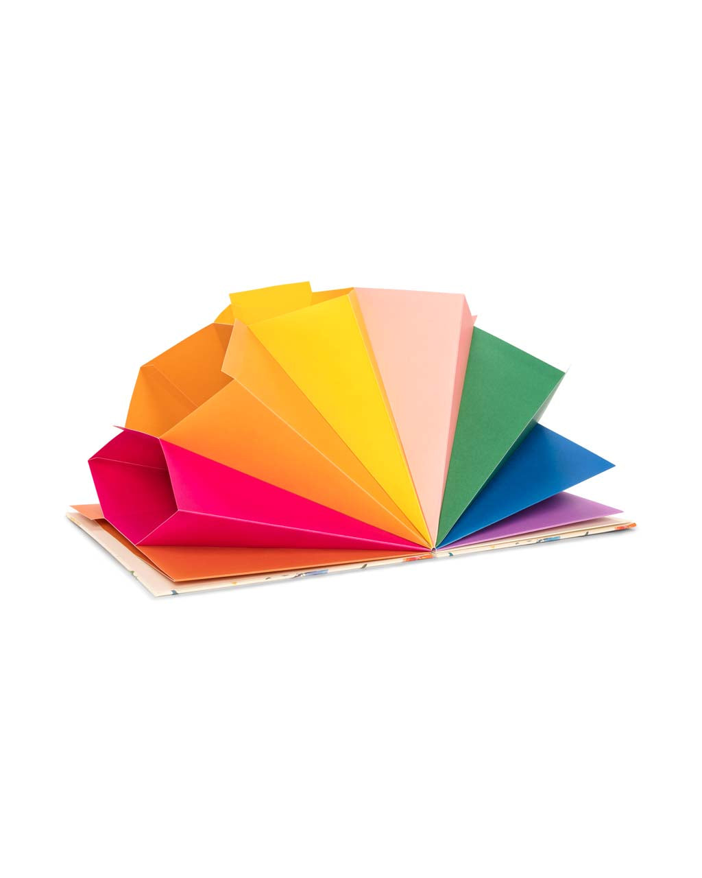 This file folder comes with 9 accordion folders in rainbow colors.