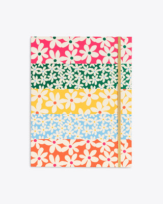 multi colored daisy pattern file folder