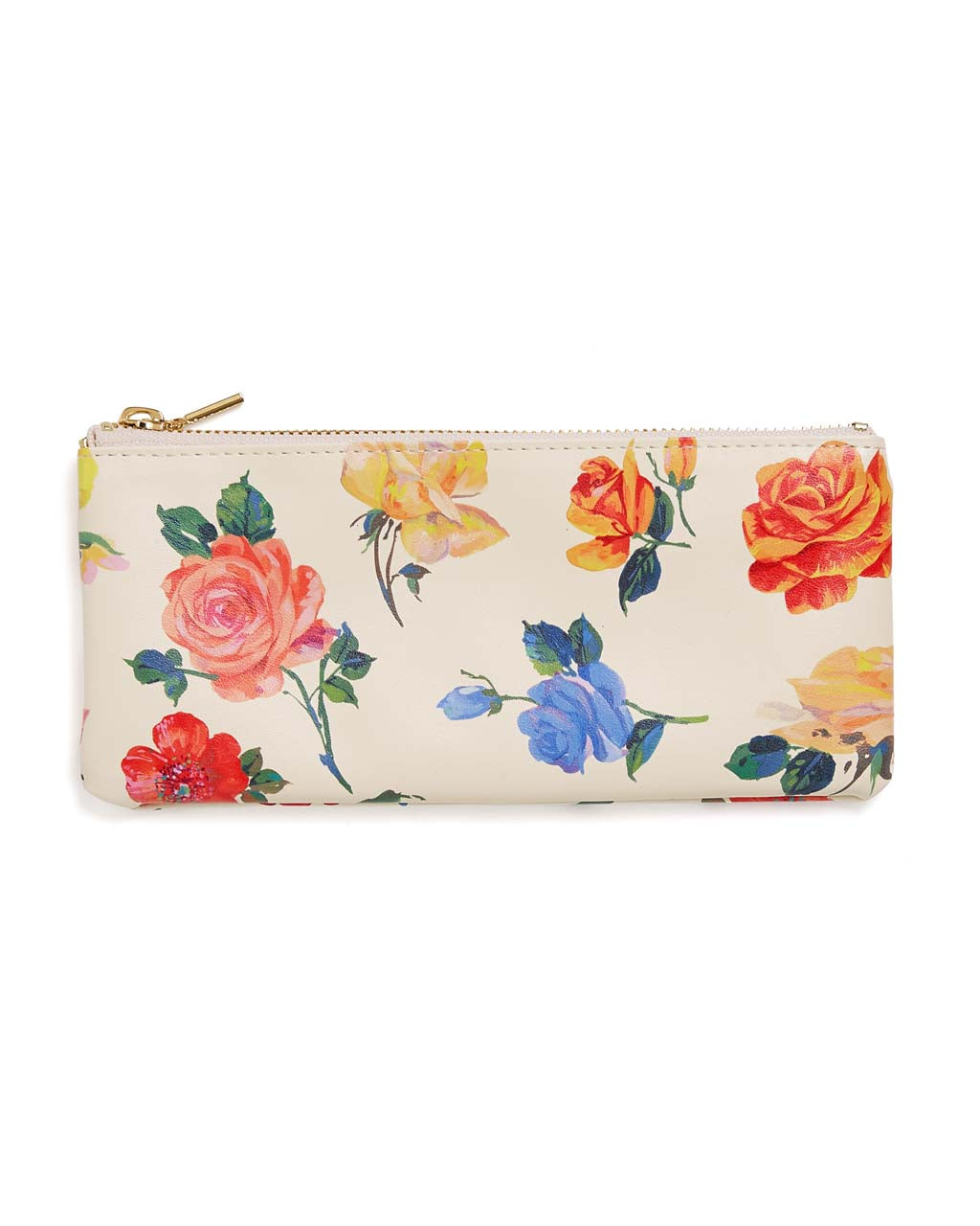 This Get It Together Pencil Pouch comes in a colorful floral pattern designed by Helen Dealtry.