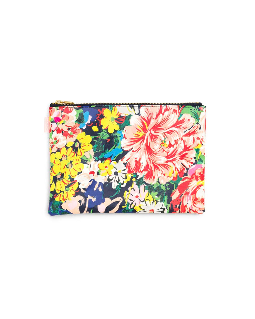 Wristlet stores away into pouch to keep things organized.