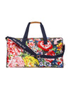 This Getaway Duffle Bag comes in a colorful floral pattern designed by Helen Dealtry.