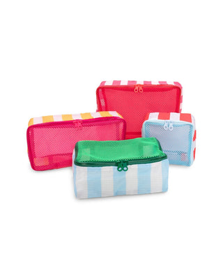 Club stripe assorted packing cubes, set of 4