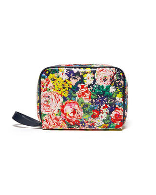 This Getaway Toiletries Bag comes in a colorful floral pattern designed by Helen Dealtry.
