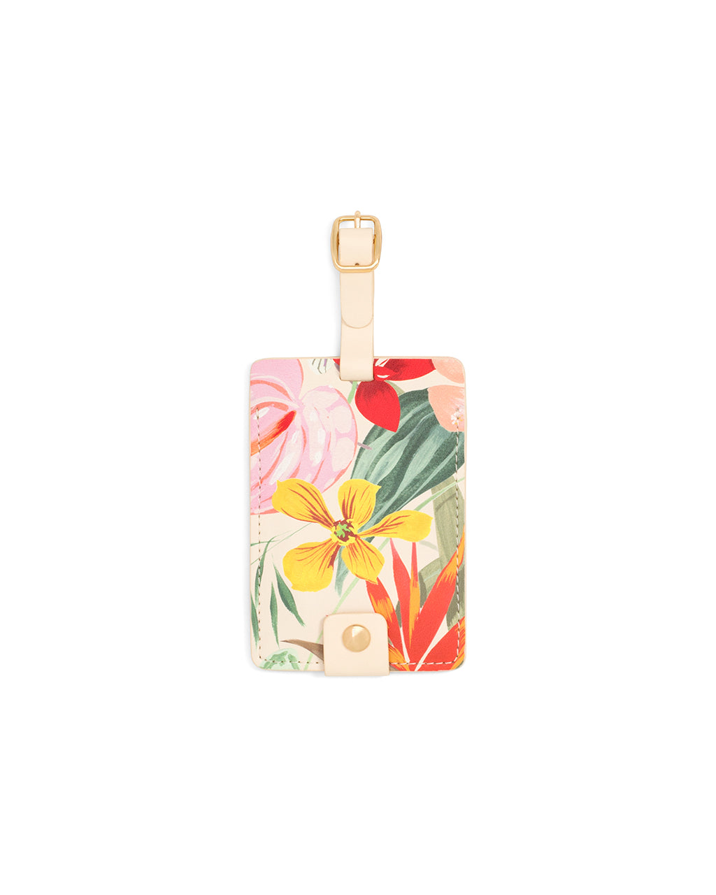 This Getaway Luggage Tag comes in a colorful floral pattern designed by Helen Dealtry and Katy Jones.