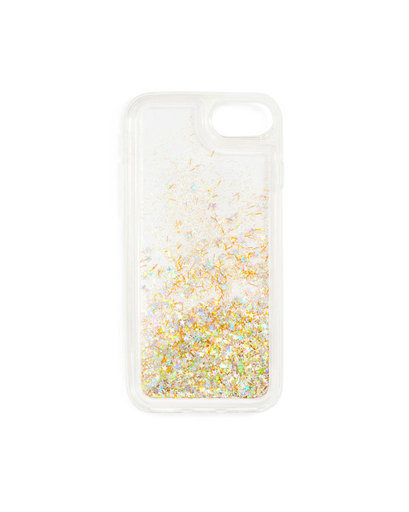 Interior view of glitter iPhone case
